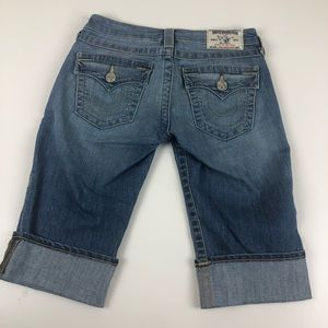 True Religion Jeans Knee Length Shorts cuffed 25